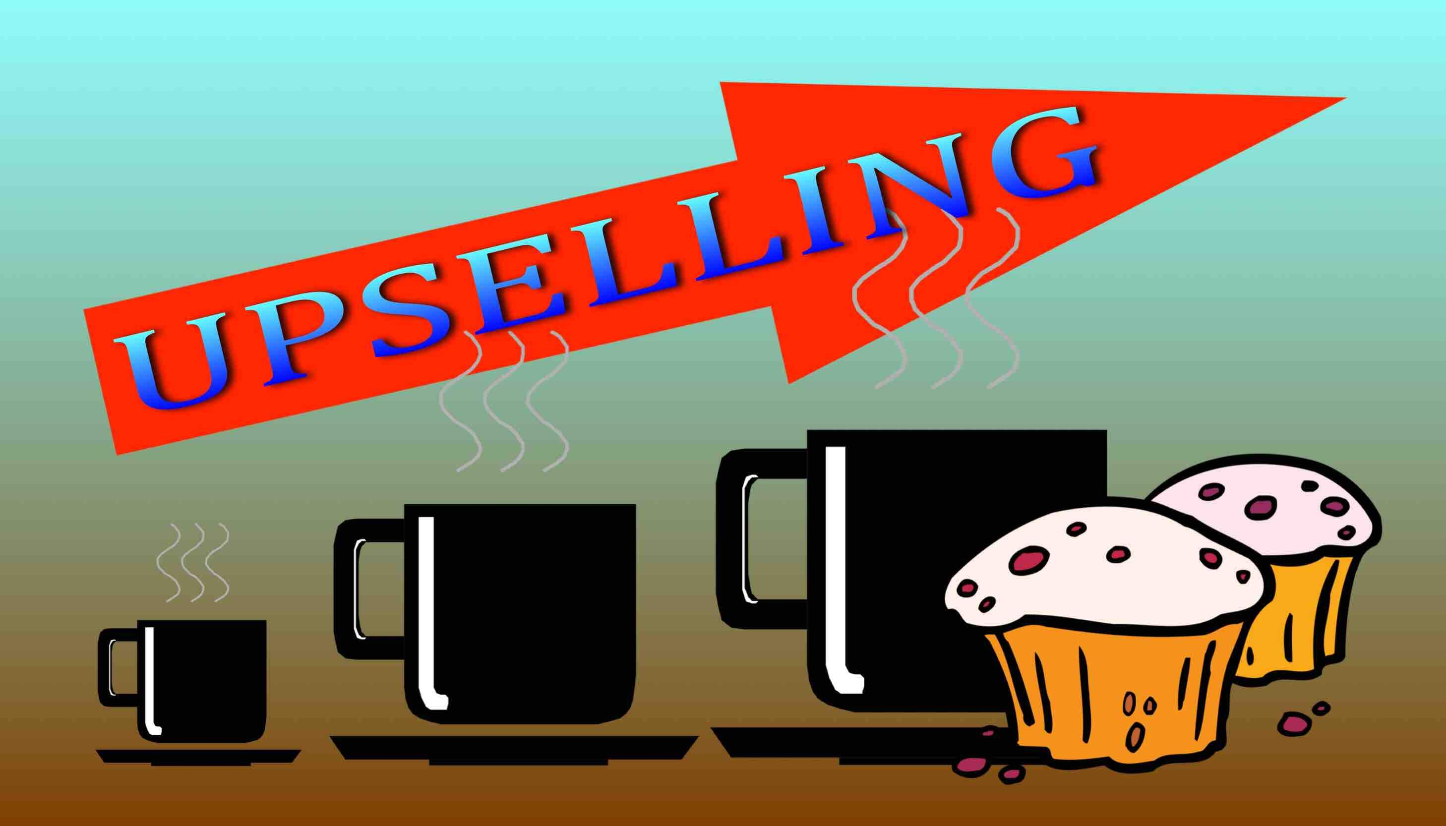 Upselling techniques in coffee shops