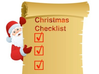 Coffee Shop Christmas Checklist