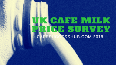 UK Cafe coffee shop milk price survey 2018