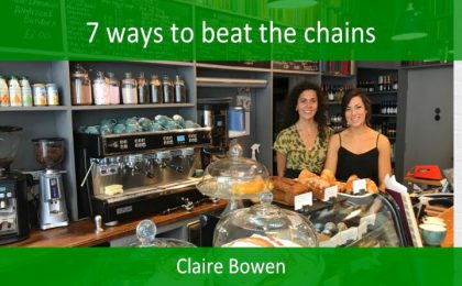 Claire Bowen Coffee shop innovation 2018