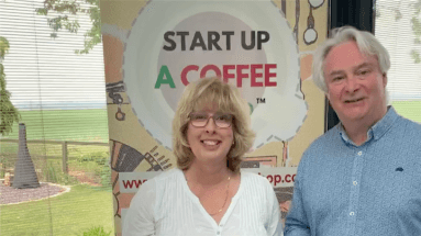 Andrew claire bowen start up a coffee shop facebook live