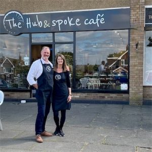 Rob and Sue Whittle Hub Spoke Cafe Andrew Claire Bowen